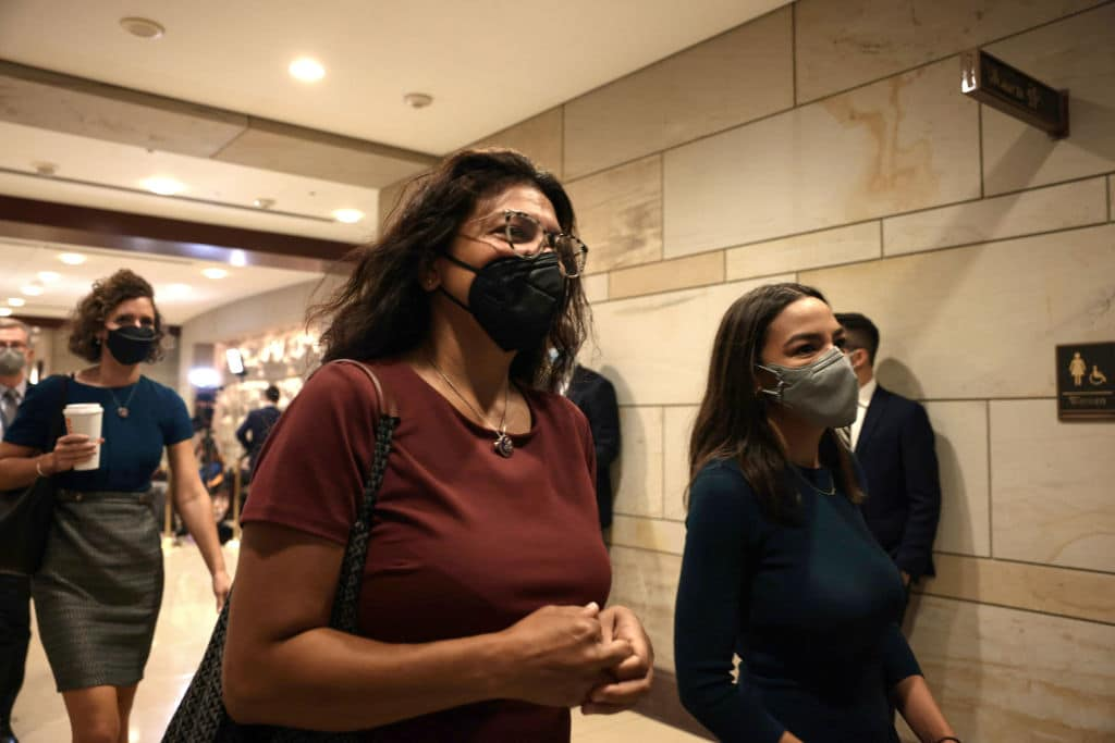 Squad Rep. Tlaib Admits She's Only Wearing a Mask Because She's on Camera